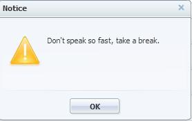 error message typing fast